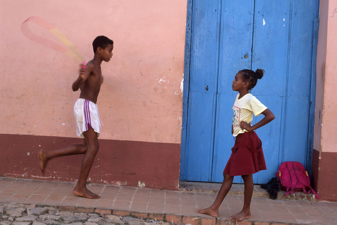 Skipping Rope on the streets of Trinidad
