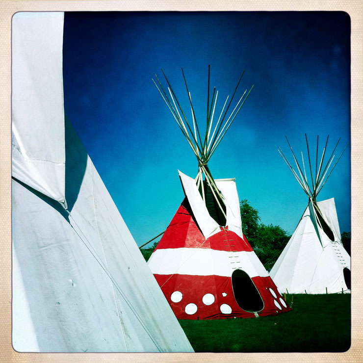 Iphone photography Pow Wow Tepee
