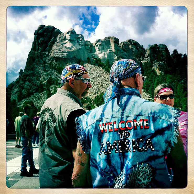 biker mount rushmore national monument