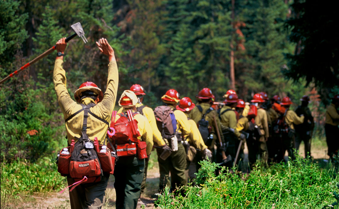 stretching firefighters