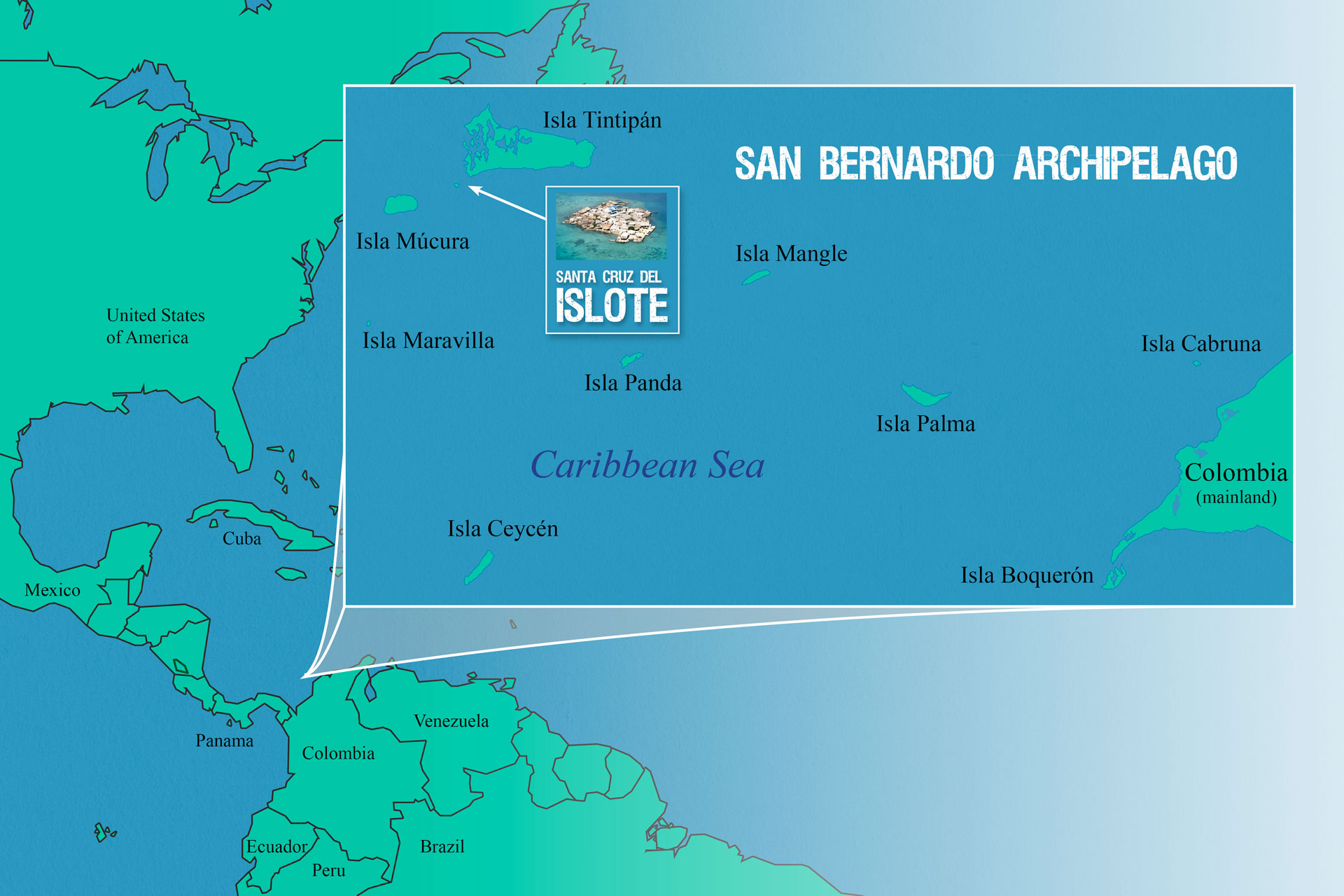 Location Map Santa Cruz del Islote